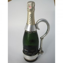 Unusual Late Victorian Silver Plated Champagne Bottle Holder