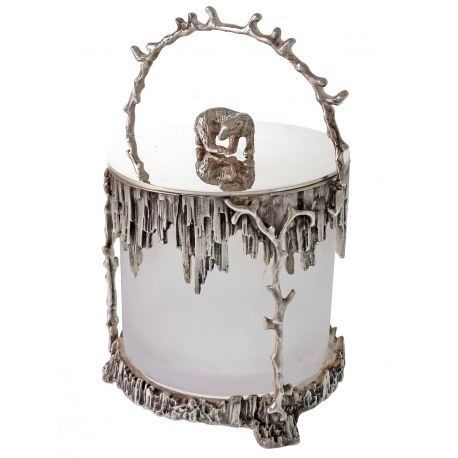 Victorian Style Silver Plated Polar Ice Bucket