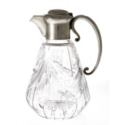 Handsome Antique Silver Mounted Cut Glass Claret Jug (c.1913)