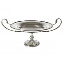 Antique Silver Circular Comport Tazza with Classical Style Handles 1907