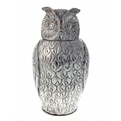 Impressive Silver Plated Owl Cast Wine Cooler