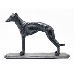 An Elegant Bronze Standing Greyhound Statue