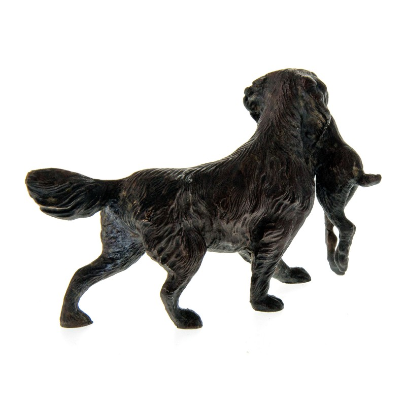 Bronze Statue Of A Golden Retriever Gun Dog Carrying A Rabbit