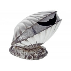 Antique Silver Plated Clam Shell Spoon Warmer (c.1890)