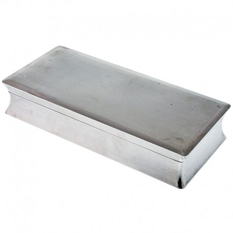 Alfred Dunhill Solid Silver Cigar Case. 1954