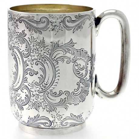 Antique Victorian Solid Silver Christening Mug