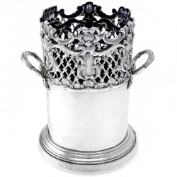 Decorative Antique Silver Bottle Stand (c.1902)