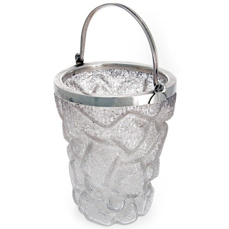 Decorative Silver Plate Ice Pail in the Form of Ice Cubes (c.1940)