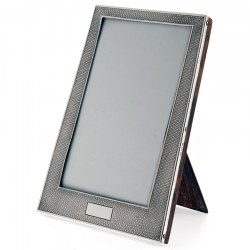 An Engine Turned Silver Photo or Picture Frame. Date 1925