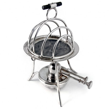An Unusual Asprey & Co Heated Toast Rack. Circa 1910