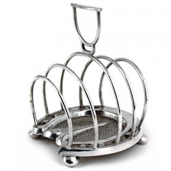 Antique Novelty Silver Plate Horse Hoof Toast Rack. Circa 1900