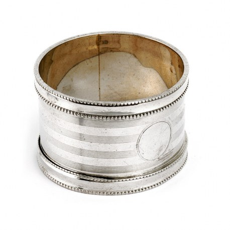 Antique Silver Napkin Ring by Charles Cooke, Chester (1910)