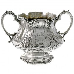 Large Victorian Silver Sugar Bowl. Edward John & William Barnard. 1845