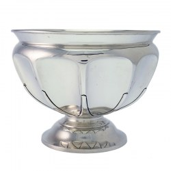 Plain Silver Paneled Rose Bowl. Stewart Dawson & Co Ltd. Circa 1911