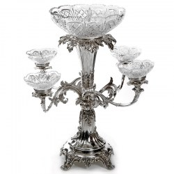 Impressive Old Sheffield Plate Epergne by Creswick & Co (c.1845)