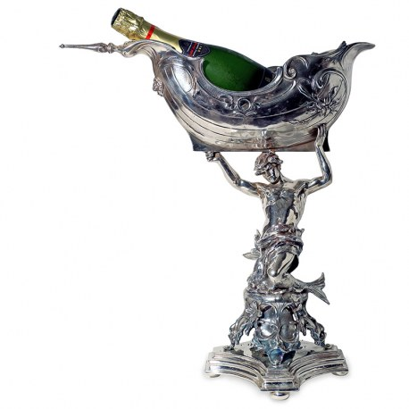 Victorian Silver Plated Centrepiece Copy of Neptune the God of the Sea