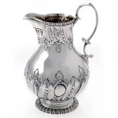 Silver Victorian Pear Shaped Cream Jug (c.1887)