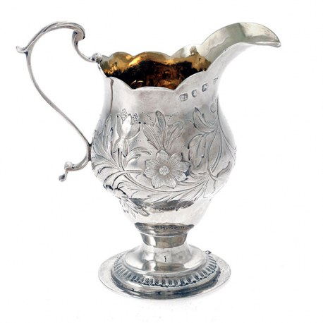 Good Quality Antique Silver George III Cream Jug. Thomas Wynne