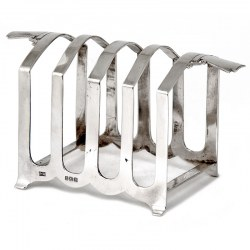 Art Deco Style Silver Toast Rack (1936)