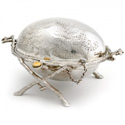 Victorian Silver Plated Revolving Butter Dish