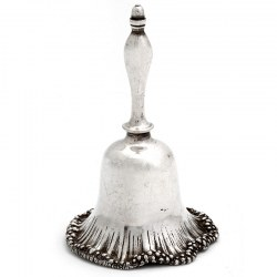 Antique Elkington & Co Cast Silver Plate Table Bell (c.1870)