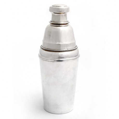Three Section Mappin & Webb Silver Plate Cocktail Shaker (c.1950)