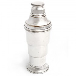 English Art Deco Silver Plate Cocktail Shaker (c.1935)