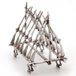 Silver Plated Six Division Rifle Toast Rack (c.1890)
