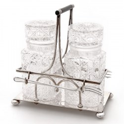 Mappin & Webb Silver Plated Double Pickle Jar Stand (c.1900)