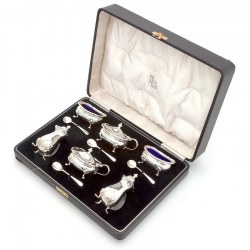 Boxed 6 Piece Silver Condiment Set (1938)