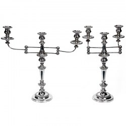 Pair of Most Unusual Regency Old Sheffield Plate Candelabra with Articulating Branches (c.1810)