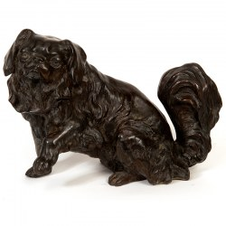 Fine Bronze Statue of a Pekinese Dog