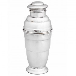 Art Deco Style Silver Plate Ribbed Cocktail Shaker (c.1930)