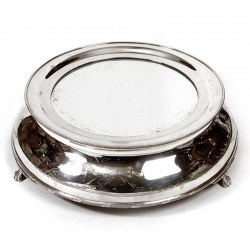 "Large Engraved Circular Mirror Plateau Cake Stand with a 12"" Mirror (c.1910)"