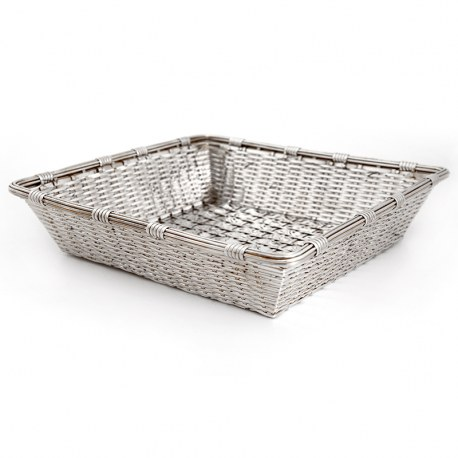 Continental Woven Wire Work Silver Plated Fruit or Bread Basket (c.1910)
