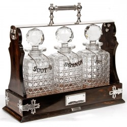 Super Quality Mappin Bros Three Bottle Silver Tantalus (1892)