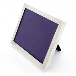 Rectangular Victorian Chester Silver Photograph Frame with a Good Quality Plain Border