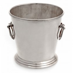 Vintage Art Deco Style Silver Plate Ice Bucket with Angled Handles (c. 1940)