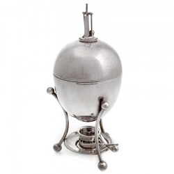 Antique Silver Plate Cricket Themed Egg Boiler (c.1920)