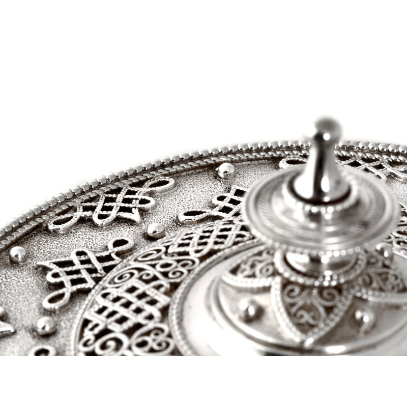 Victorian Silver Plate Filigree Biscuit Barrel With Winged