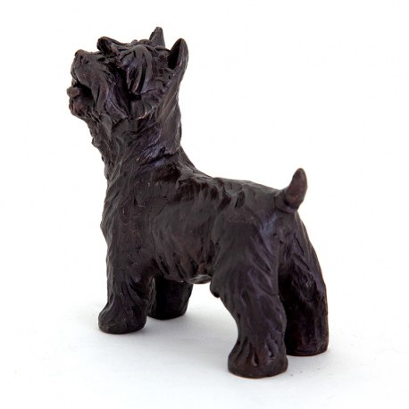 Standing Scottish Terrier Dog Cast Bronze Sculpture