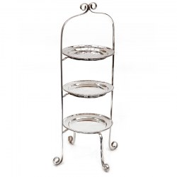Tall Antique Silver Plated Three Tier Cake Stand (c.1910)