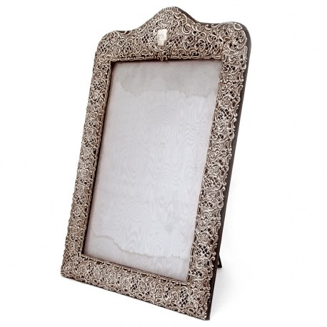 Large Victorian Silver Picture Frame Which can also Transform into a Dressing Table Mirror