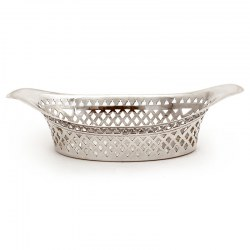 Small Antique Silver Oval Bon Bon Dish by Atkin Brothers (1895)