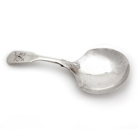 Victorian Plain Silver Tea Caddy Spoon (1844)