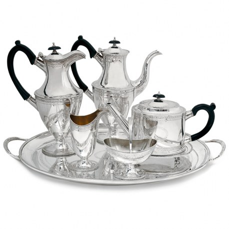Vintage Silver Georgian Style Seven Piece Tea and Coffee Set (1972)