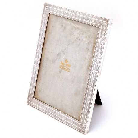 Mappin & Webb Silver Photo or Picture Frame with Engine Turned Border