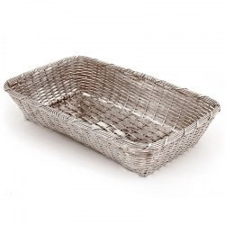 Decorative Silver Plated Bread Dish in a Woven Work Design (c.1930)