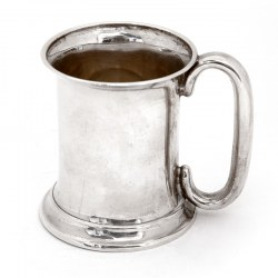Edwardian Silver Christening Mug with a Plain Cylindrical Body (1910)