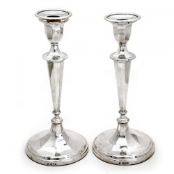 Exceptional Pair of Silver Candle Sticks From Tessiers London (1957)